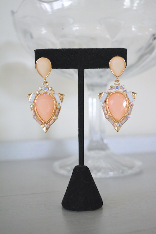 Blush Pink Earrings, Pink Earrings, Blush Earrings, Girly Earrings