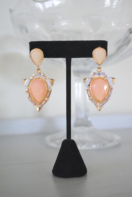 Blush Pink Earrings, Pink Earrings, Blush Earrings, Girly Earrings