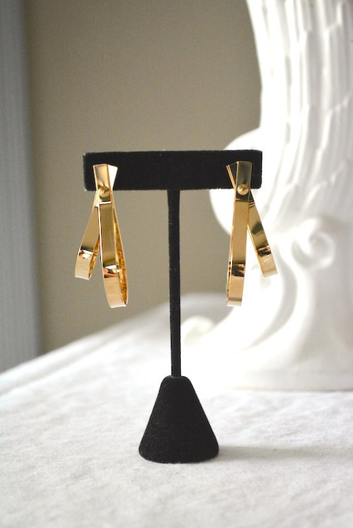 Gold Double Hoops, Gold Hoops, Gold Hoop Earrings, Gold Earrings