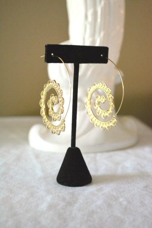 Gold Filigree Hoops, Hoop Earrings, Gold Hoop Earrings, Gold Filigree Earrings, Filigree Earrings, Boho Earrings, Bohemian Earrings, Bohemian Jewelry