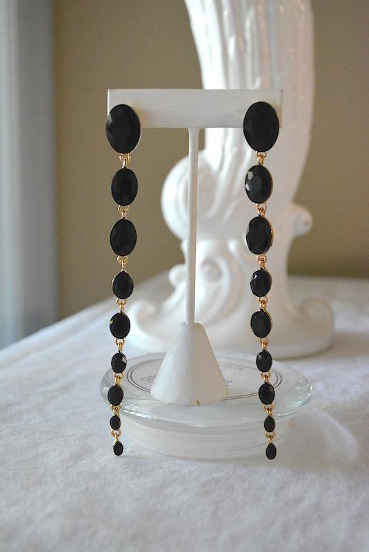 Black Chandelier Earrings, Black Earrings, Chandelier Earrings, Statement Earrings, Black Jewelry, Black Earrings