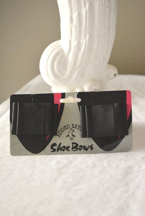 Black Shoe Bows, Show Bows, Shoe Jewelry, Shoe Clips, Black Ribbons, Vintage Shoe Clips
