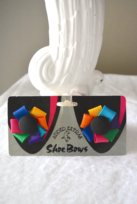 Multicolored Shoe Bows, Shoe Bows, Shoe Clips