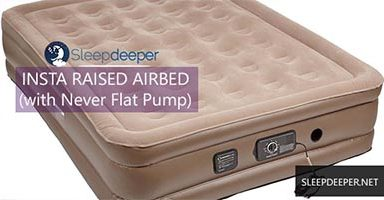 Insta Raised Air Bed with Never Flat Pump Review