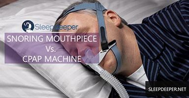 snoring mouthpiece vs cpap machine