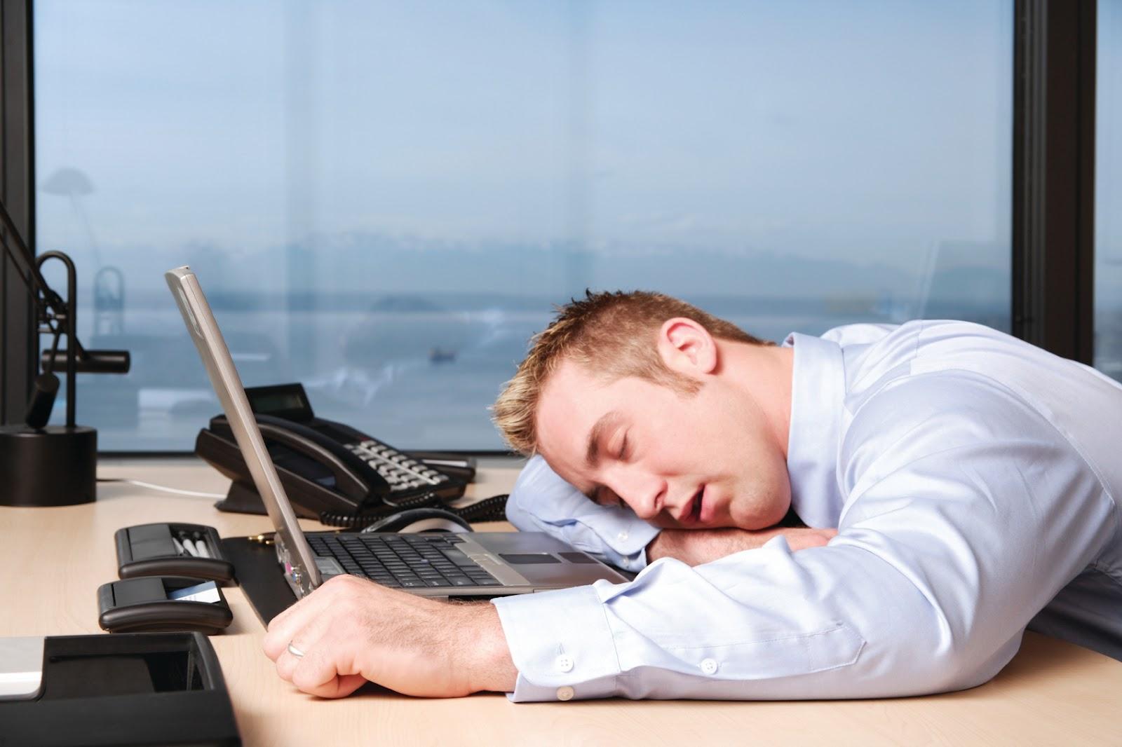 Image result for Man Sleeping on desk