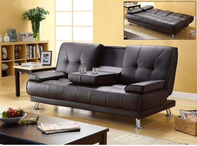 Best Choice Products PU Leather Convertible Futon Sofa Bed