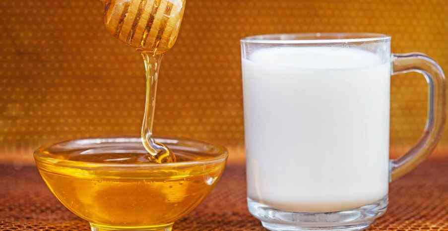 adding honey to milk is beneficial