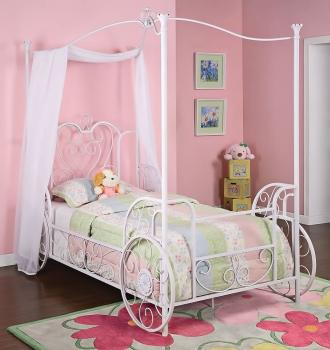 Powell Princess Emily Shabby Canopy Bed