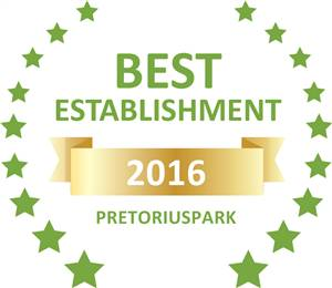 Sleeping-OUT's Guest Satisfaction award Pretoriuspark 2016