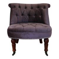 Designer Victoria Bedroom/Boudoir Chair in Mauve Chenille ...