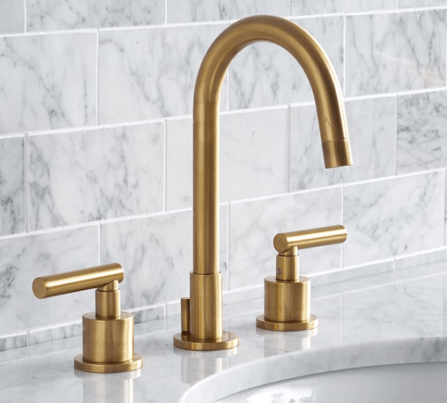 brushed brass is back in style