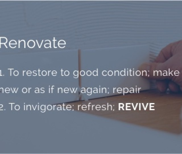 Definition Of Renovate
