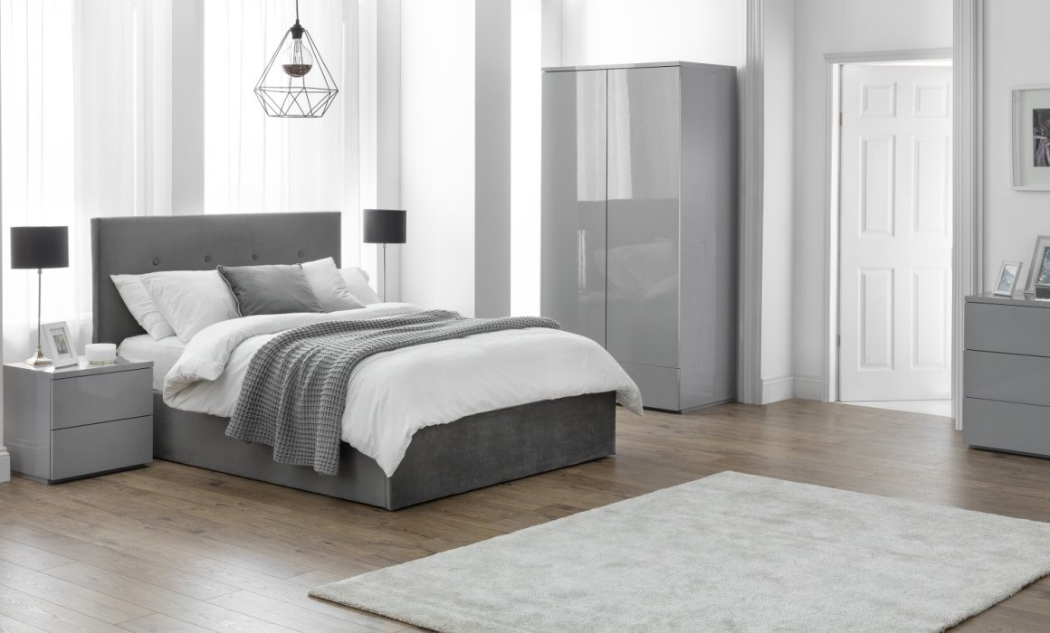 grey high gloss bedroom furniture