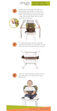Onya Baby's Unique Integrated Chair