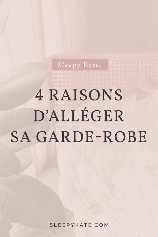 Aujourd'hui, je vous présente mes 4 raisons pour alléger sa garde-robe. Vous en avez marre et perdez le goût de vous habillez? Cet article est pour toi! #capsulewardrobe #garderobecapsule #buyless #style #modefemme