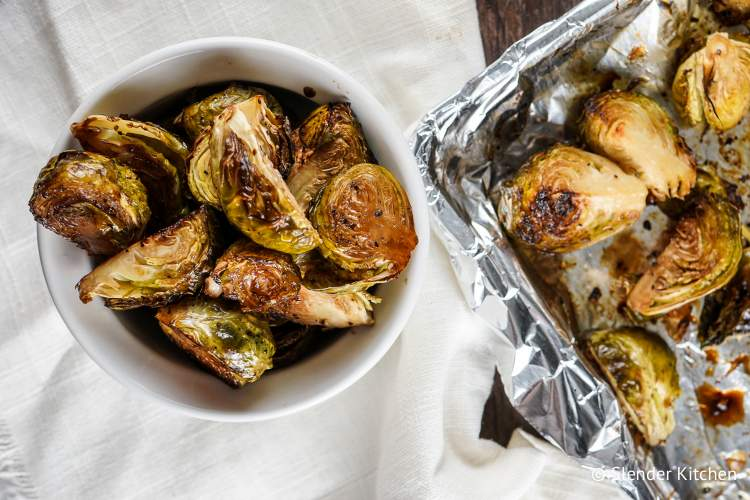 Brussel Sprouts with balsamic vinegar.