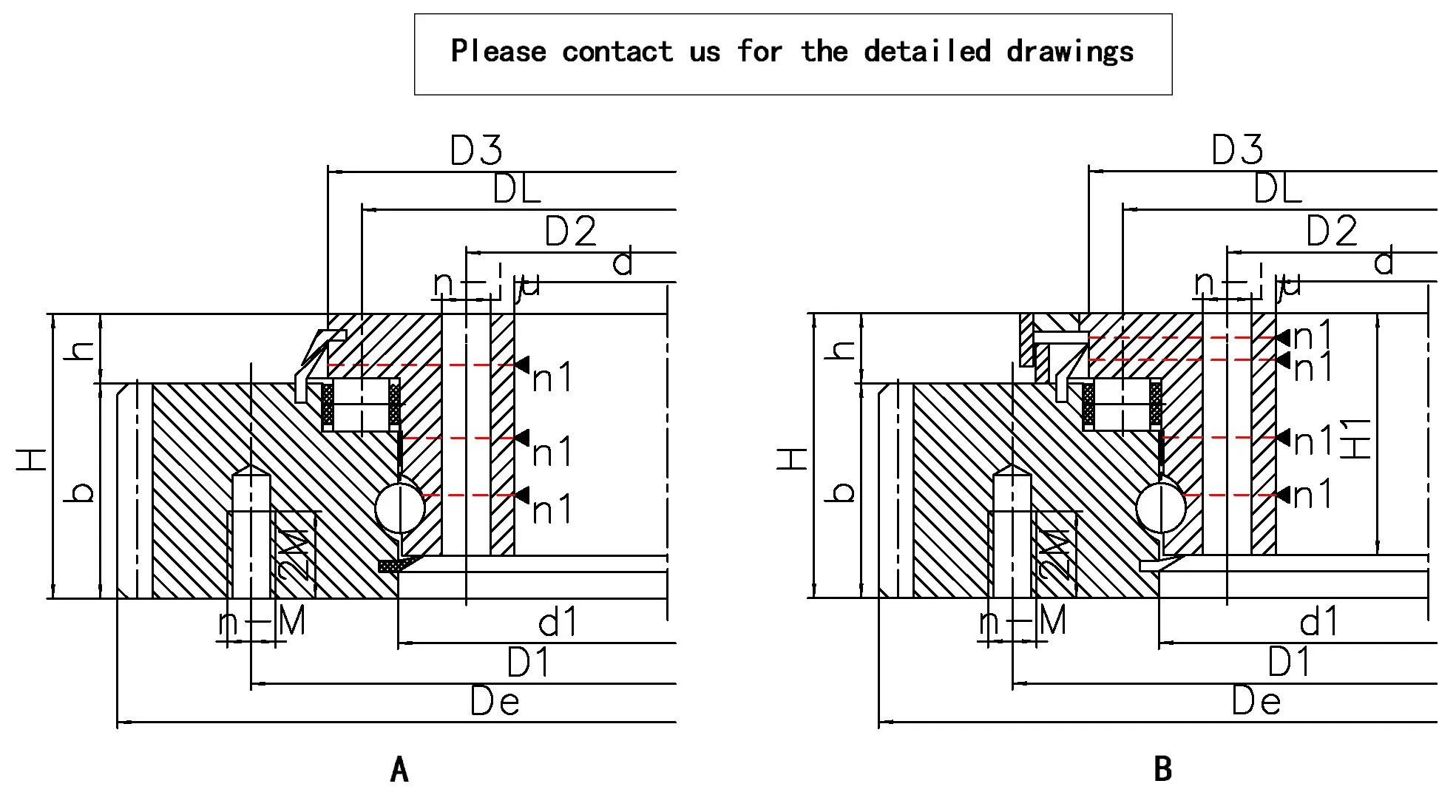 Ball And Roller Combined Slewing Bearing Fenghe Slewing