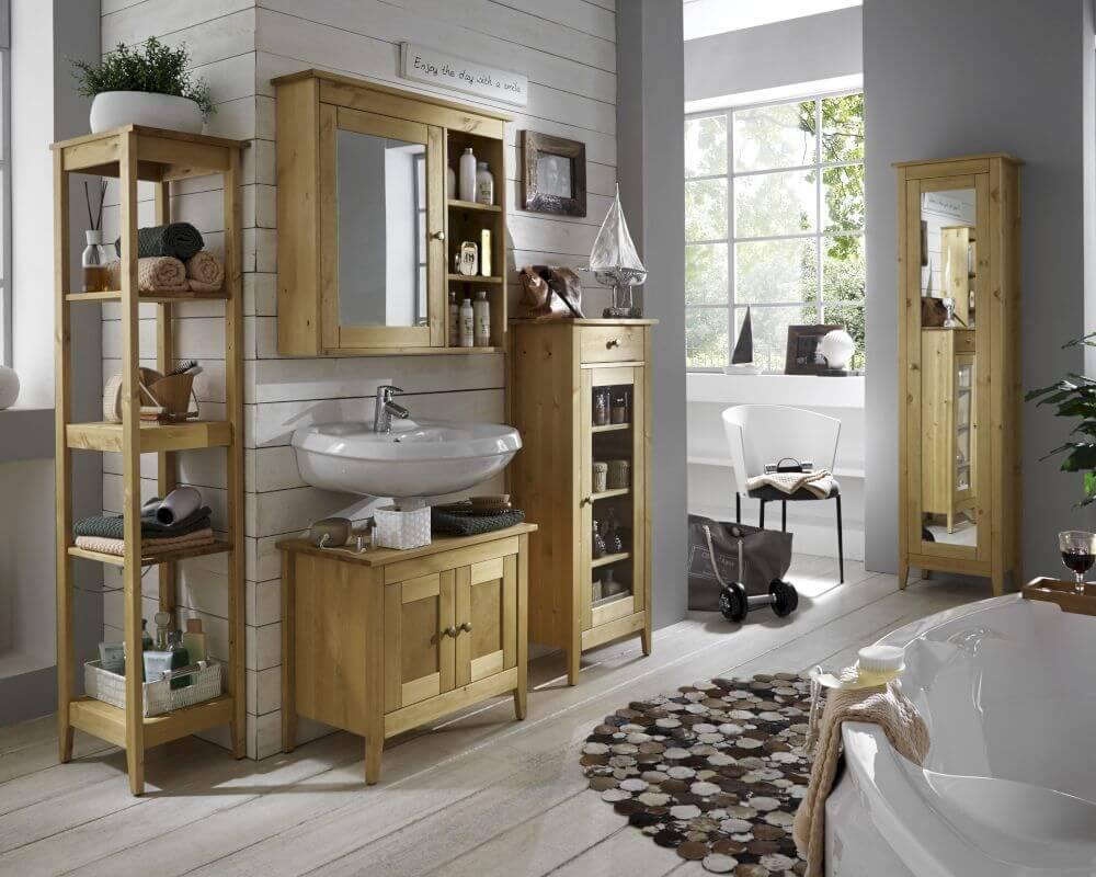 Massivholz Splash Badezimmer Kommode bei  slewocom