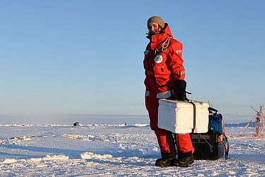 Sledges and polar bears – Ruzica Dadic reporting from the MOSAiC expedition  – Swiss Polar Institute