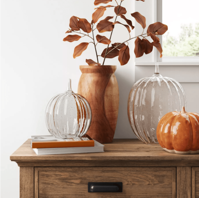 Decorative Glass Pumpkin Figurine