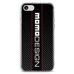 Cover per smartphone con logo Momo Design stile carbon