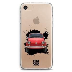 Cover smartphone trasparente fiat 500 muro sfondato