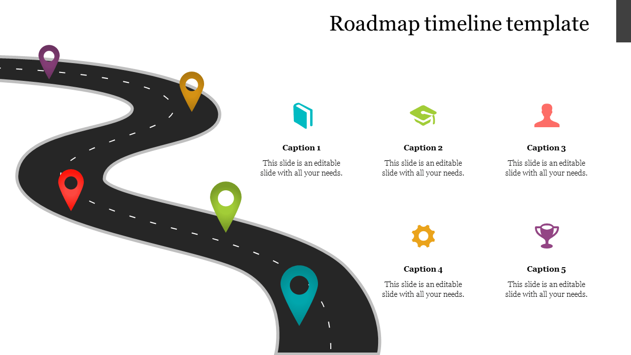 Timelines are one of the best ways of visually showcasing a business plan or project. Editable Roadmap Template For Powerpoint Presentation