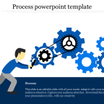 Process Powerpoint Template Gear Wheel Model Slideegg
