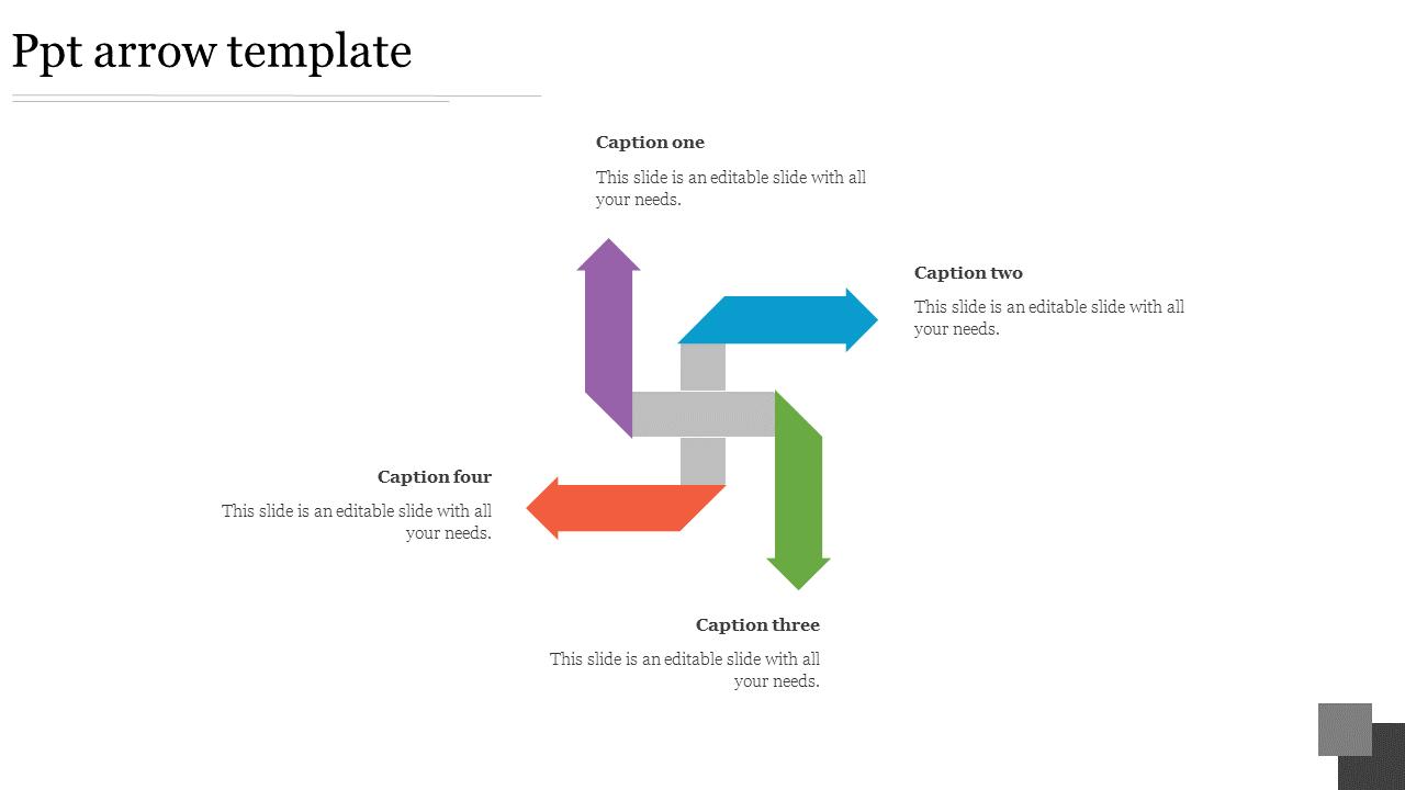 Editable Ppt Arrow Template- SlideEgg