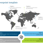 World Map Powerpoint Template For Medical Presentation Slideegg