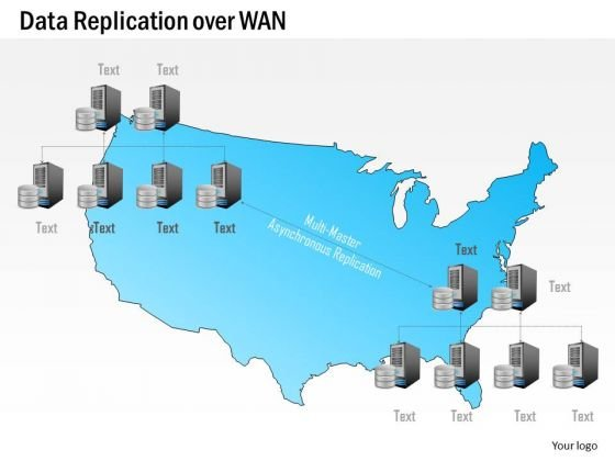Business Diagram Data Replication Over Wan Wide Area Network