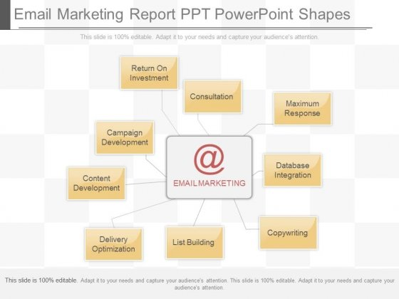 Free Email Marketing Report Template from SlideGeeks