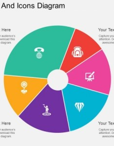 Six staged pie chart and icons diagram powerpoint template also templates slides graphics rh slidegeeks