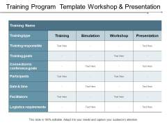 The workshop agenda should be the source of an organized activity. Education Training Powerpoint Templates Slides And Graphics