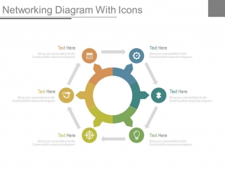 Circular Network Diagram With Icons Powerpoint Slides PowerPoint