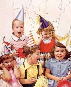 children in birthday party