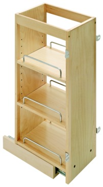 kitchen base cabinet pull outs island hoods out spice rack upper 8 wide
