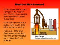 Blast Furnace - Presentation Chemistry - SliderBase