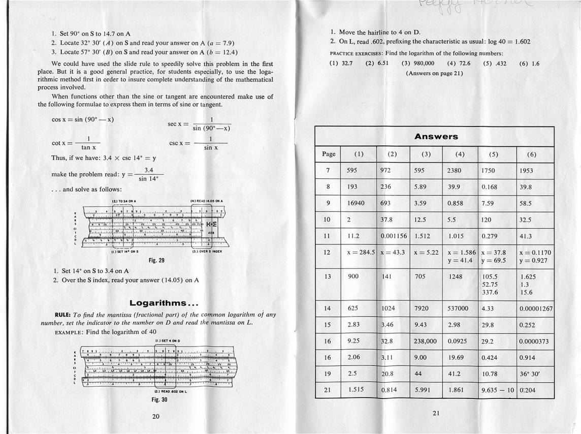 Eric's Slide Rule Manuals Page