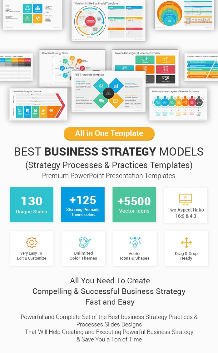 Best Business Strategy Models And Practices Powerpoint Templates Slidesalad