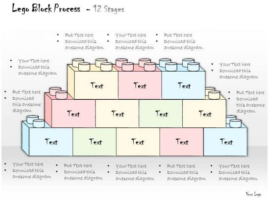 0314 Business Ppt Diagram Lego Blocks Data Model