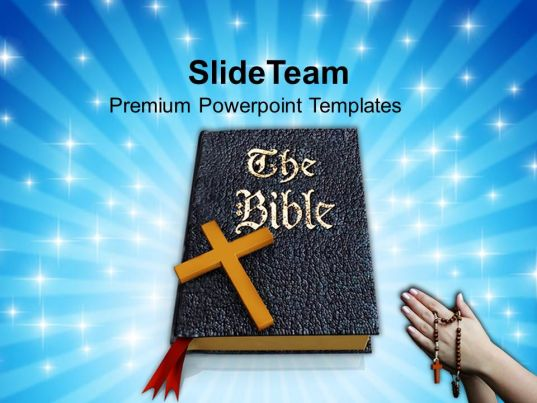 0413 Praying Hands To Holy Bible For Success PowerPoint Templates PPT Themes And Graphics
