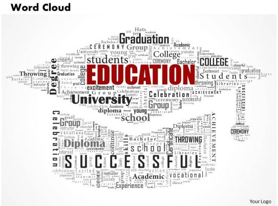 0514 Education Word Cloud Powerpoint Slide Template 1