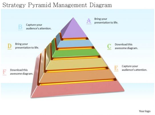 0514 Strategy Pyramid Management Diagram Image Graphics For Powerpoint PowerPoint Templates