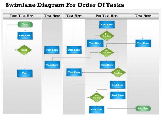 0814 Business Consulting Diagram Swimlane Diagram For