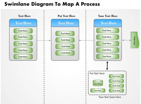 swim lane diagram in ppt dental numbering 0814 business consulting swimlane to map a process powerpoint slide template ...