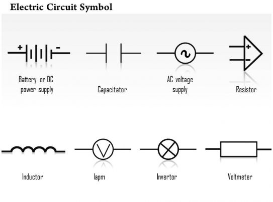 automotive electrical wiring diagrams symbols diagram split type air conditioning 0814 electric circuit symbol capacitor resistor inductor invertor voltmeter ppt slides ...