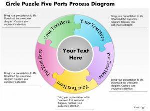 0914 Business Plan Circle Puzzle Five Parts Process Diagram Powerpoint Template | PowerPoint