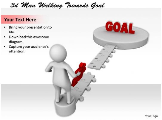 net diagrams of 3d shapes ford 8n wiring diagram 6 volt 1113 man walking towards goal ppt graphics icons powerpoint